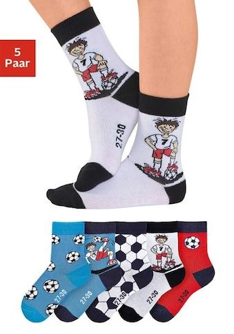 H.I.S Socken, (5 Paar), mit Fussballmotiven kaufen