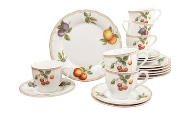 "CreaTable Kaffeeservice ""Flora Orchard"" (18 - tlg.), Porzellan kaufen"