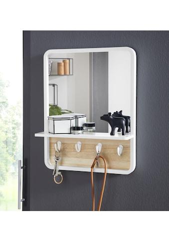 andas Wandspiegel, mit Ablage und 4 Metallhaken kaufen