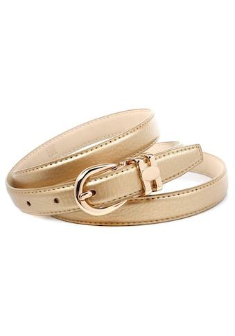 Anthoni Crown Ledergürtel, in schmaler Form 2 cm breit kaufen