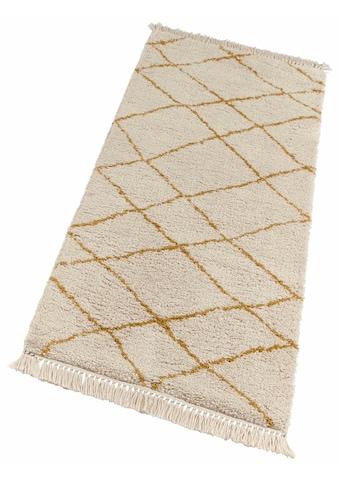 freundin Home Collection Hochflor-Läufer »Primrose«, rechteckig, 35 mm Höhe, mit Fransen kaufen