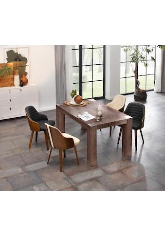 Home affaire Esstisch »Maggie«, aus massivem Akazienholz, in drei verschiedene Tischbreiten und zwei unterschiedlichen Beinstärken kaufen
