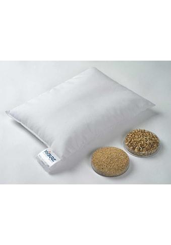 Kyburz Naturkissen »Hirsekissen, Kyburz«, Füllung: Hirsespreu, Bezug: 100% Baumwolle, (1 St.) kaufen