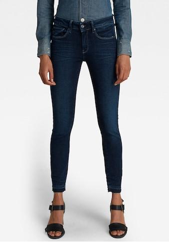 G-Star RAW Ankle-Jeans »3301 Mid Skinny Ankle Jeans«, Saumabschluss mit leicht... kaufen