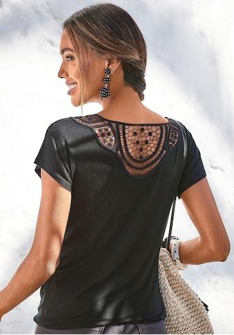 Vivance T-Shirt, mit weicher Häkelspitze im Rücken kaufen