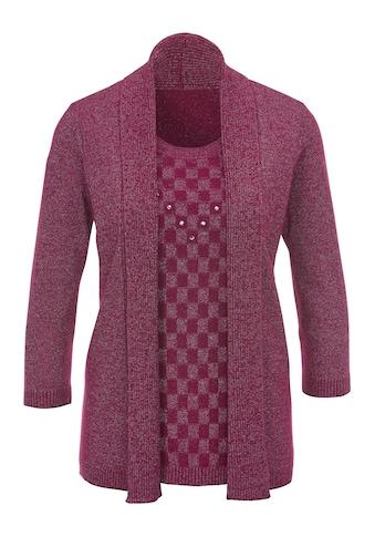 Classic Basics Pullover mit silberfarbenfarbigem Effektgarn kaufen