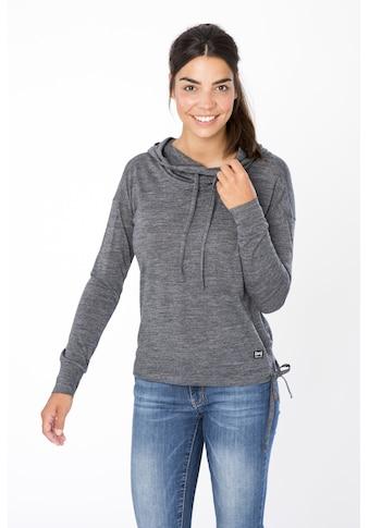 SUPER.NATURAL Kapuzensweatshirt »W FUNNEL HOODIE«, optimaler Merino-Materialmix kaufen