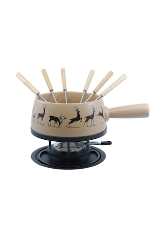 Fondue »Kadastar Käsefondue-Set Regular Hirsch, Beige, 9-teilig« kaufen