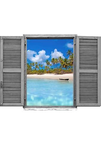 queence Wandtattoo »Strand mit Palmen« kaufen