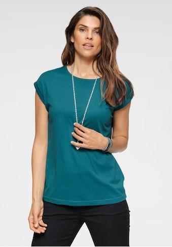 Chillytime T-Shirt, mit überschnittenen Schultern & kleinem Ärmelaufschlag kaufen