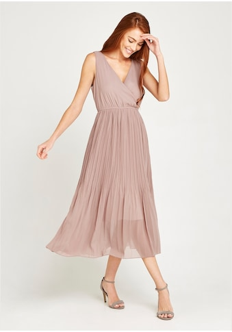Apricot Chiffonkleid »Chiffon Plisse Midi Dress« kaufen