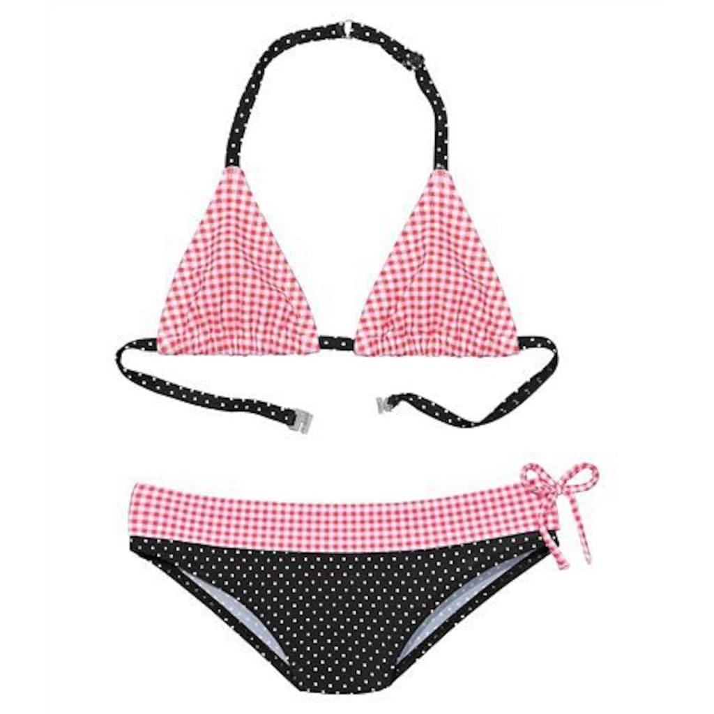 Buffalo Triangel-Bikini, mit Mustermix aus Karo und Punkten