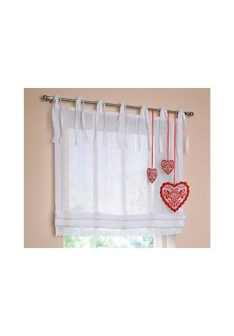 Raffrollo »Rustico«, Kutti, mit Bindebänder kaufen
