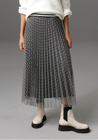 Aniston CASUAL Plisseerock, mit Hahnentritt-Muster - NEUE KOLLEKTION kaufen