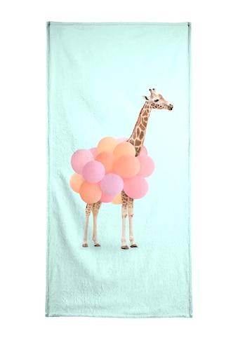Juniqe Strandtuch »Party Giraffe«, (1 St.), Weiche Frottee-Veloursqualität kaufen