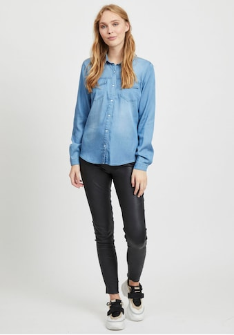 Vila Jeansbluse »VIBISTA«, in leichter Used-Waschung kaufen