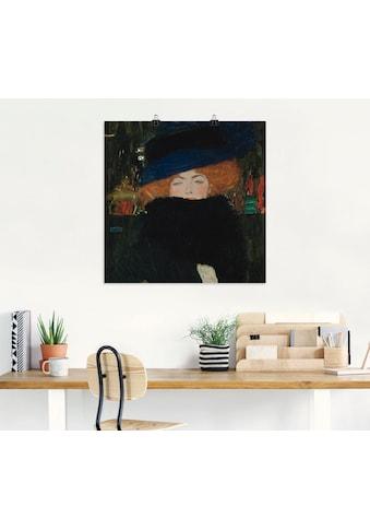 Artland Wandbild »Dame mit Hut und Federboa« kaufen