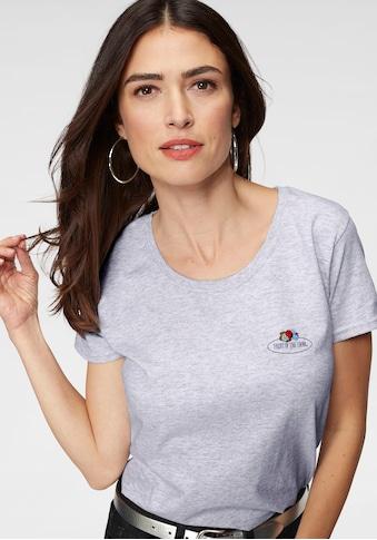 Fruit of the Loom T-Shirt, mit kleinem Logo Print kaufen