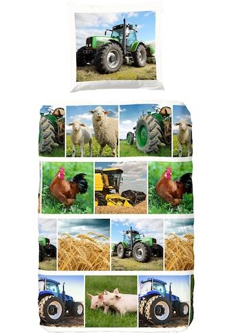 good morning Kinderbettwäsche »Agri«, mit Traktoren bedruckt kaufen