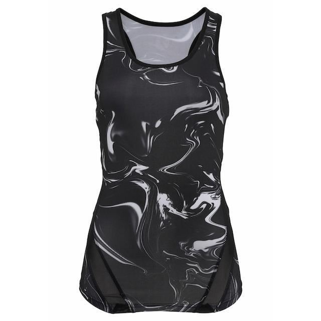 LASCANA ACTIVE Sporttop »Black Marble«