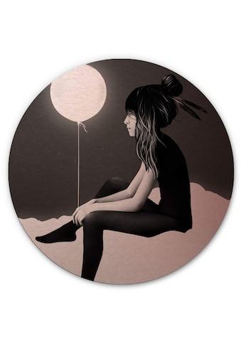 Wall-Art Metallbild »Metallschild Luftballon Rosa«, (1 St.) kaufen