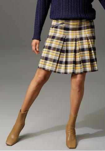 Aniston CASUAL Faltenrock, mit Zierreissverschluss im Vorderteil kaufen