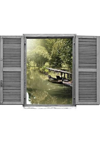 queence Wandtattoo »Asiatischer Dschungel mi« (1 Stück) kaufen