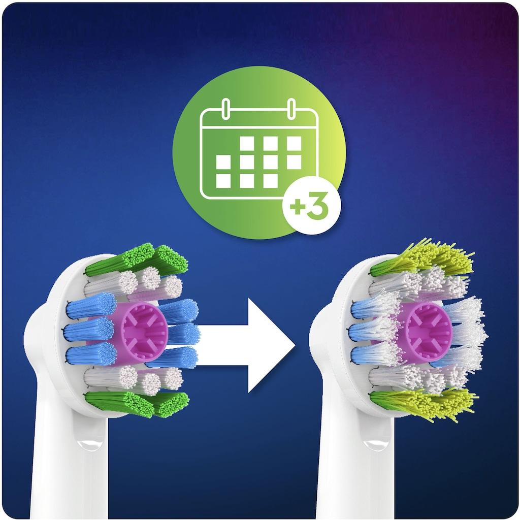 Oral B Aufsteckbürsten »3DWhite CleanMaximiser«, Mit CleanMaximiser-Technologie