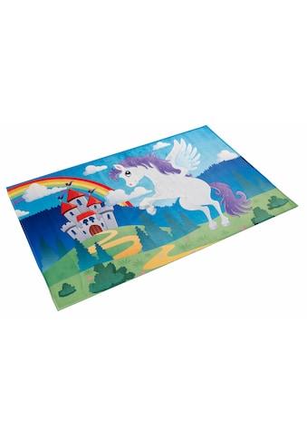 Böing Carpet Kinderteppich »Lovely Kids 401«, rechteckig, 6 mm Höhe, Motiv Einhorn,... kaufen