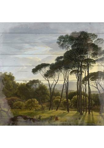 queence Holzbild »Ethan«, Wiesen & Bäume, (1 St.) kaufen