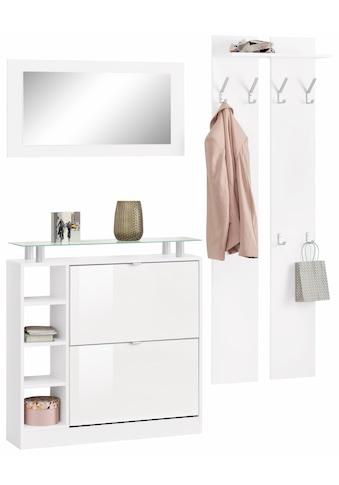 borchardt Möbel Garderoben-Set »Dolly«, (Set, 3 St.), mit Glasablage kaufen