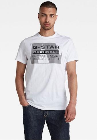G-Star RAW Rundhalsshirt »LLayer Originals Logo GR R T« kaufen