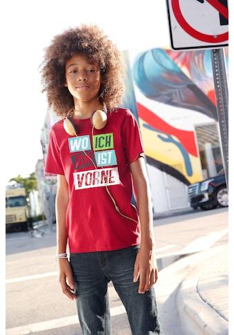 KIDSWORLD T-Shirt »WO ICH BIN IST VORNE« kaufen