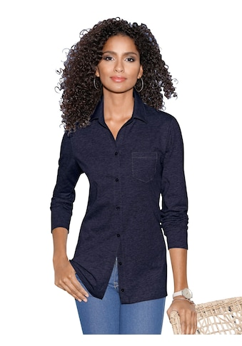 Classic Basics Jersey - Bluse mit offenem Hemdkragen kaufen