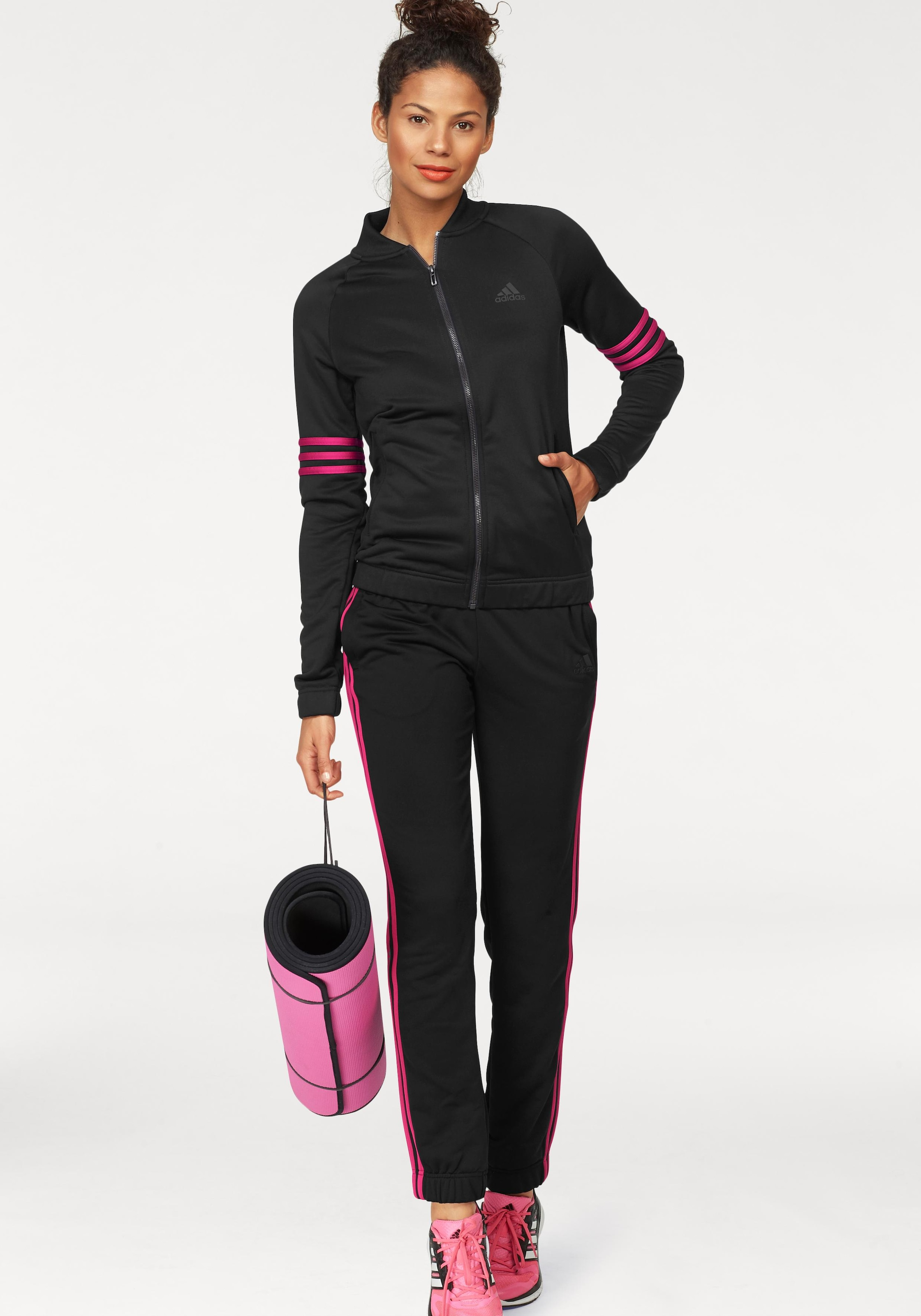adidas Performance Trainingsanzug »WOMEN TRACKSUIT POLYESTER COSY« (Set, 2 tlg.)