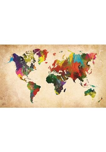 Home affaire Bild »Weltkarte in Farben« kaufen