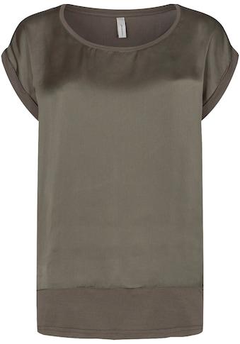 soyaconcept Shirtbluse »SC-Thilde6«, Schluse- das Vorderteil Web, der Rücken aus Jersey kaufen