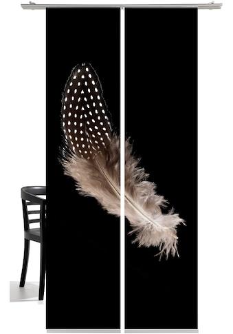 Schiebegardine, »Feder«, emotion textiles, Klettband 2 Stück kaufen