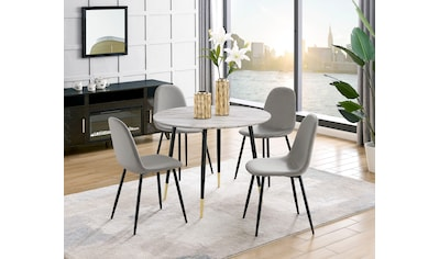 Leonique Esstisch »Eadwine«, Tischplatte auch in Marmor-Optik erhältlich kaufen