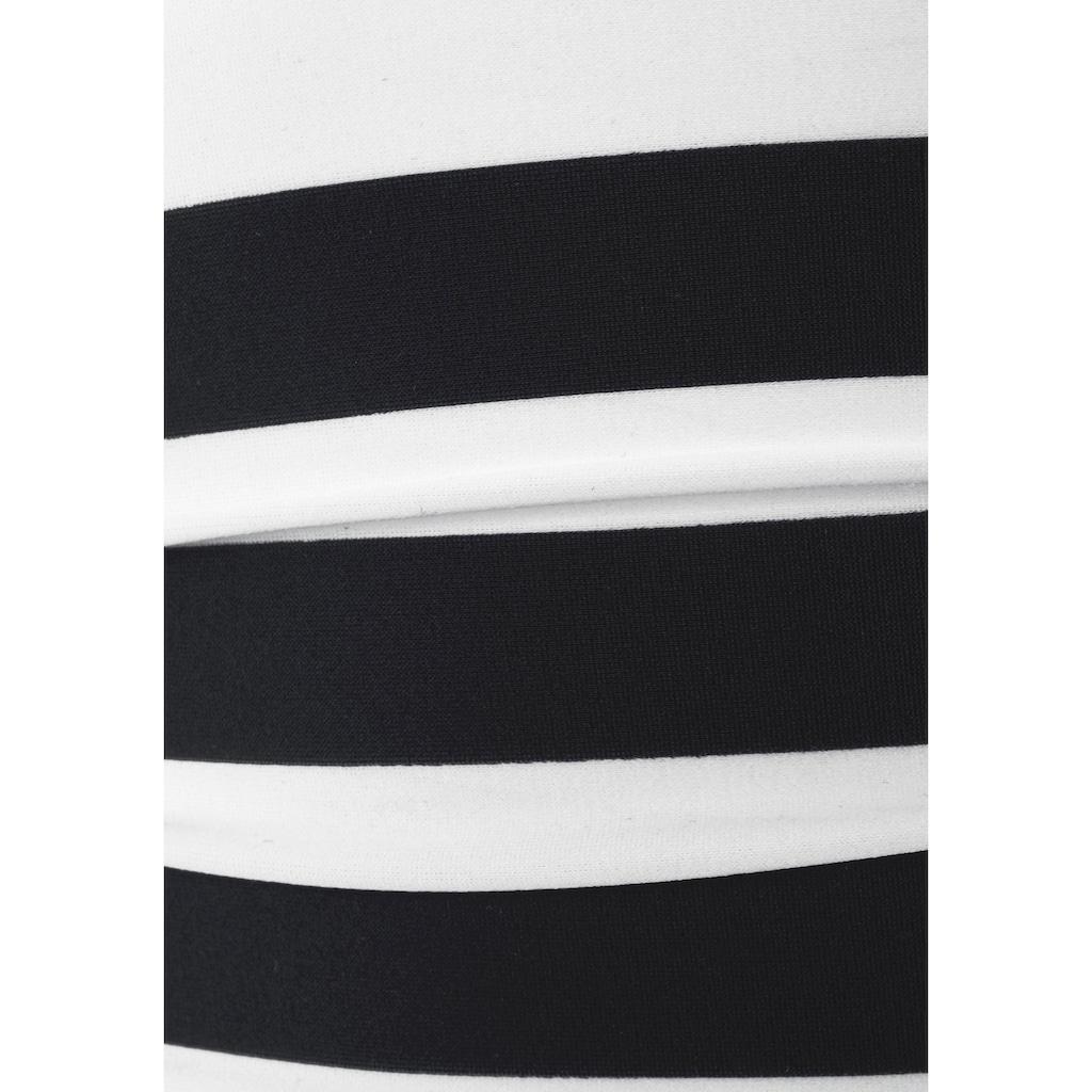 Bench. Badeanzug, mit trendigen Streifen