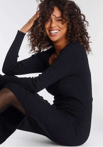 Tamaris Strickkleid, mit trendy Karree-Ausschnitt - NEUE KOLLEKTION kaufen
