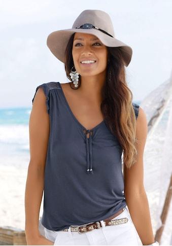 Buffalo Strandshirt, mit Spitzeneinsatz am Rücken kaufen