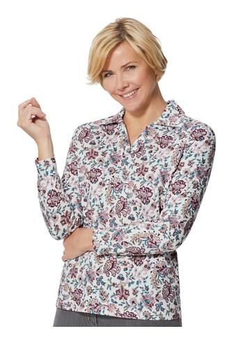Classic Basics Poloshirt mit Blütendruck kaufen