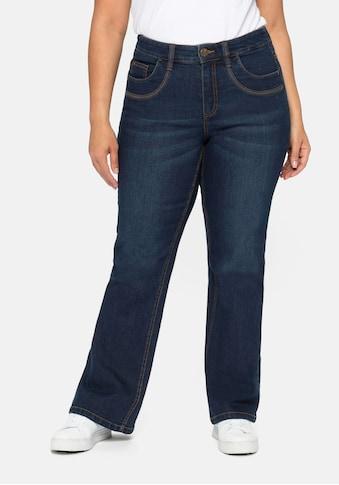 Sheego Bootcut-Jeans, mit verstellbarem Bund kaufen