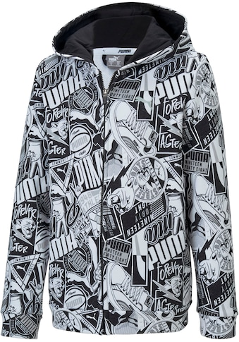 PUMA Kapuzensweatjacke »ALPHA ALLOVERPRINT HOODED JACKET BOYS« kaufen