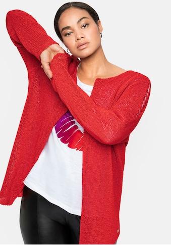 Sheego Cardigan, in Kurzform, aus Bändchengarn kaufen