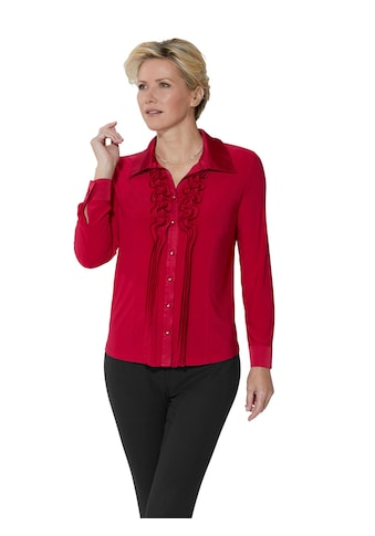 Lady Jersey - Bluse mit effektvollen Rüschen kaufen