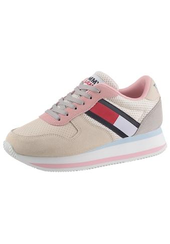 Tommy Jeans Keilsneaker »TOMMY JEANS FLATFORM RUNNER«, in typischer Tommy Optik kaufen