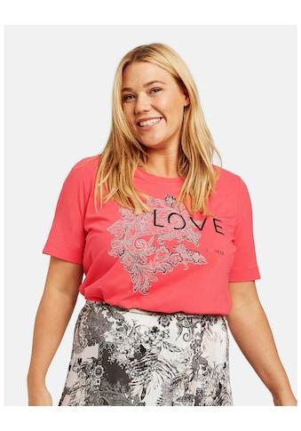 Samoon Rundhalsshirt »Statement - Shirt organic cotton« kaufen