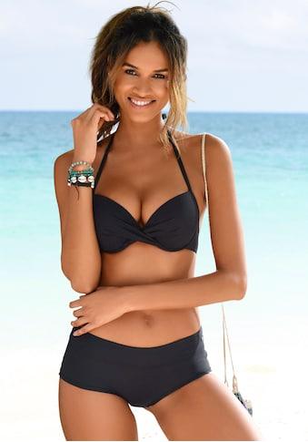 s.Oliver Push-Up-Bikini-Top »Spain«, in Wickeloptik kaufen